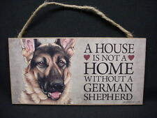 GERMAN SHEPHERD A House Is Not A Home DOG wood SIGN wall PLAQUE sheperd puppy K9