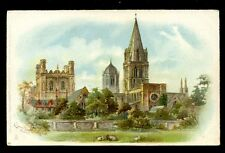 Oxfordshire Oxford Christchurch Cathedral Tuck #5793 u/b perforated PPC
