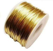 RED BRASS ROUND WIRE 18 GA  70 FT. 5 OZ  SOFT  SOLID WIRE WRAPPING ON SPOOL