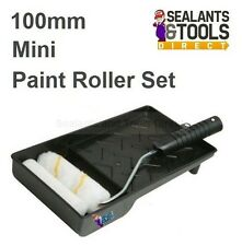 Mini Paint Roller And Tray Set 100mm Radiator and hard to reach places