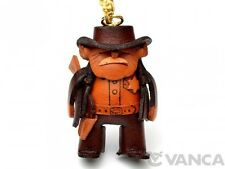 Sheriff Handmade 3D Leather (L) Keychain/Keyring *VANCA* Made in Japan #56823