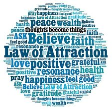 INSPIRATION LAW OF ATTRACTION  QUOTES  IMAGE A4 Poster Laminated Gloss Print