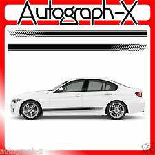 x2 Universal car slanted gradiant stripe side stripes vinyl graphic decals 210cm
