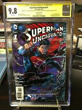Superman Unchained 1 Ultra Rare 3D Variant Cover SS CGC 9.8 Signed By Jim Lee