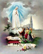 Our Lady of Fatima 8x10 Color Print NEW! Catholic Faith Virgin Mary