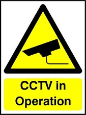 10 cctv Self adhesive vinyl stickers decals security CCTV warning SURVEILLANCE