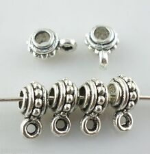 40pcs Tibetan silver Crafts Jewelry Making Connectors Bail Charms 4*6.5*9mm