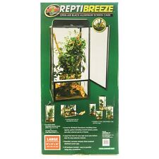 "Zoo Med ReptiBreeze Open Air Black Aluminum Screen Cage LG(18""L x 18""W x 36""H)"