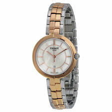New Tissot Flamingo White MOP Dial Two-Tone Steel Ladies Watch T0942102211100