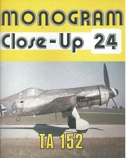 MONOGRAM CLOSE-UP 24 Ta152 KURT TANK HIGH ALTITUDE WW2 GERMAN LUFTWAFFE JUMO213E