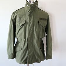 VINTAGE ORIGINAL US ARMY M-65 M65 FIELD COAT JACKET W/HOOD OG-107 SZ MEDIUM 1967