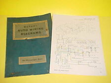 1956 LINCOLN CONTINENTAL MARK II AUTO CAR WIRING DIAGRAMS ELECTRICAL CIRCUITS 56