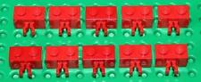 Lego Red Modified Brick 1x2 with Vertical Clip 10 pieces (30237) NEW!!!