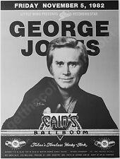 George Jones 1982 Concert Poster - Cain's Ballroom, Tulsa, Oklahoma 34 years old