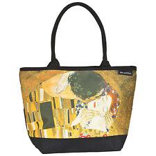 Borsa Shopper Plastica oro colorato Donna Gustav Klimt: Der Kuss 4159