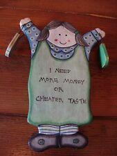 EAST OF INDIA WOODEN  SHABBY CHIC HUMOROUS PLAQUE