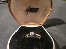 Beautiful Art Deco 18ct Gold & Plat, Diamond Solitaire Ring