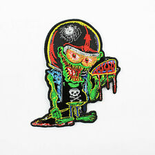 Biker Moto Choppers Low Brow MONSTER SERBATOIO aufbügler RICAMATE PATCH USA NUOVO