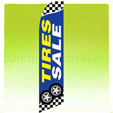 Feather Swooper Flutter Banner Sign 11.5' Flag - TIRES SALE checkered bb