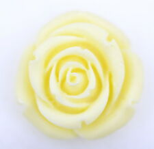 Antique style finely carved ivory coloured bone rose flower pendant