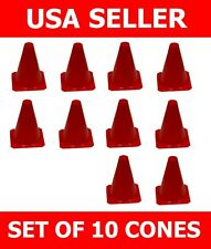 "RED 9"" INCH SPORT CONES (10 PCS) RACE MULTIPURPOSE SAFETY CONE TRAINING SOCCER"