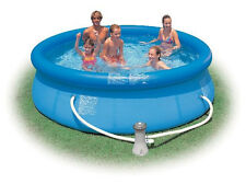 "INTEX Above Ground Pool 10' x 30"" 305 x 76cm Easy Set® w/ Filter Pump"
