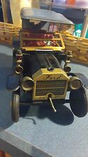 Vintage 1960's red Ford  metal friction car on batteries made in Japan