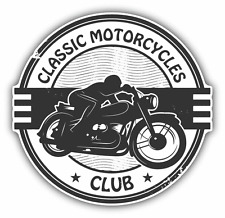 "Classic Motorcycle Club Grunge Rubber Stamp Car Bumper Sticker Decal 5"" x 5"""