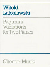 Witold Lutoslawski Paganini Variations For Two Pianos DUETS Music Book