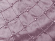 "LT PINK EMBROIDERY PEARL BEADS 100% SILK DUPIONI FABRIC 54"" WIDE 1 YARD"