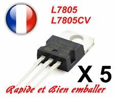5x Regulateurs de Tension +5V ST L7805 L7805CV TO220