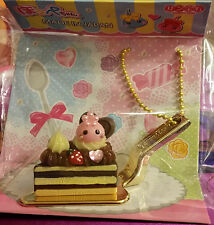 Sunhoseki Hoppe-chan kawaii Cake Slice Sweet Keychain + FREE chocolate notebook