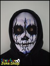 Voodoo Skeleton Scary Full Head Mask Realistic Printed Lycra for Halloween
