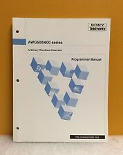 Sony/Tektronix 071-0555-01, AWG500/600 Series Waveform Generator Program Manual