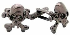 Gunmetal finish Skull & Crossbones Cufflinks NEW cuff Links  18743