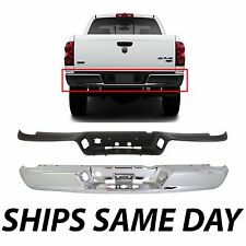 NEW Chrome- Steel Rear Bumper Face Bar And Top Step Pad For 2002-2009 Dodge Ram