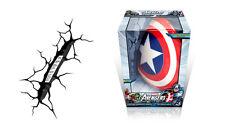 (Slightly damaged box) NEW 3D Light FX Marvel Captain America Shield Wall Light