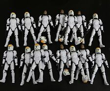 lot of 15 Star Wars Legacy Geonosis Assault Clone Pilot figure w gun