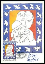 S. TOME MK PICASSO UNICEF CHRISTMAS PIGEON DOVE TAUBE MAXIMUM CARD MC CM bo90