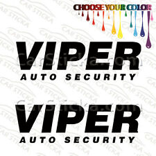 "2 of 8"" Viper Auto Security aftermarket car bumper window vinyl sticker decal"