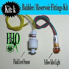 12v DC, Tank Float Switch, Yellow Idiot Light,HHO/ Bubbler/ Reservoir/ Dry Cell