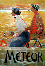 Art Deco - Meteor Bicycle Cycle Bike Advert - A3 Art Poster Print