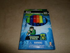 CN Pack Of 8 Ben 10 Alien Force Colored Markers, For Ages 4 & Up, NEW IN BOX!!