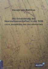 *NEU*  HANSJüRGEN MATTHIES - DIE ENTWICKLUNG DER NEUROWISSENSCHAFTEN IN DER DDR
