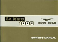 Moto Guzzi owners manual book Le Mans 1000 December 1984 Edition