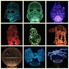 3D Star Wars Night Light Color Changing LED Desk Table Light Lamp Force Awakens