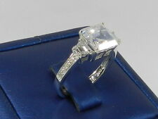 Sterling Silver  Cubic Zirconia Ring , Sz 7