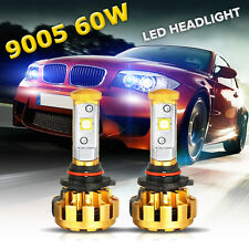 Pair Auxbeam CREE 9005 HB3 60W 6000LM LED Headlight Kit Bulbs 6000K Single Beam