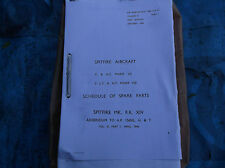 ww2 raf spitfire 7-8-14 parts manual 900 pages verry nice copy