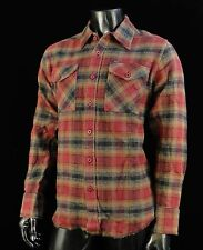 Alpinestars Motocross Gieves Flannel Brown Classic L/S T Shirt Mens Size Large